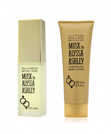 Alyssa Ashley Lote MUSK Eau de toilette Vaporizador 100 ml + Loción corporal y de manos 250 ml